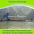 De alta eficiencia y de marca nueva draga de oro, 50-200cbm/h máquinasdeextracción barcazas de oro draga de productos