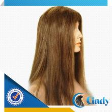 ebay 18 inch ladies 100% virgin peruvian strawberry blonde human hair topper wig