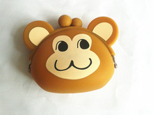 2014 cute Monkey silicone pochi wallet silicone coin purse
