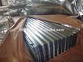 corrugado galvanizado chapa de aço ondulada pc folha de cobertura transparente curvar telhado de aço corrugado folha