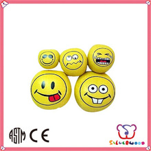 ICTI Factory Custom Sport Toys advertising toys pu smile face stress ball