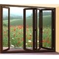 de gama alta de bajo valor de u de madera maciza de doble acristalamiento puerta plegable