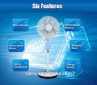 Nigeria and Egypt market 12v solar rechargeable luminous fan 12v bladeless stand fan