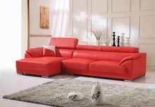 red color leather lounge suites