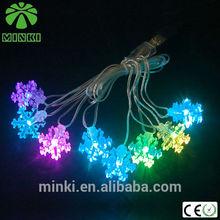 2014 MINKI 2AA various shape PVC string led/family christmas gift