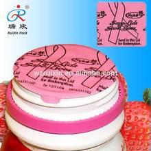 Special design pink color induction cap liner for baby beverage