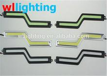 Silver &Balck Cover Z-SHAPE ZIG ZAG COB CHIP ON BOARD LED DAYTIME RUNNING LIGHTS