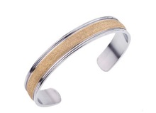 2012 new design 18k gold plated stainless steel bracelets and bangles with brushed