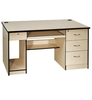 popular practical design commercial office furniture, MDF office table with CPU holder, keyboard and side drawer
