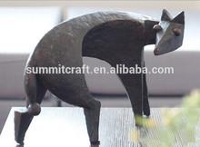 Feng Shui de la decoration de petit renard resine bronze statuettes