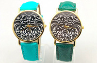 high quality pu leather band COCK design drawing face fashion watch,With precise quartz movement,moq 70pcs freeshipping