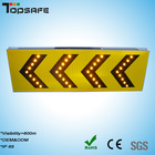 Solar led safety signs in construction