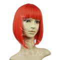 Qualidade superior vermelha bonito 100% brasileira remy do cabelo humano da peruca com franja