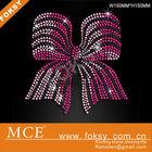 pink bow rhinestone hot fix transfer motif