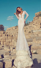 Deep V Neck Long Sleeve Sweep Train Beaded Julie Vino Wedding Dresses Imported From China