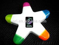 new star highlighter 5 in 1 highlighter pen 5color highlighter Pentagram pens