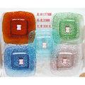Quadrados de vidro colorido natural pratos/placa de vidro colorido de pratos para a promoção