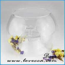 latest design fashion glass christmas ball with led lights