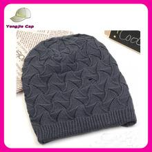 Chic Stylish Wholesale bulk Fashion Hand Knit Man Beanie Hat