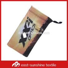 polyester polyamide custom logo printed microfiber soft sunglasses bag, eyeglasses pouch