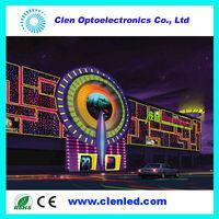 512 DMX, 5050 RGB Pixel SMD ,Round Clear PC PVC DMX led light ,16 ws2812b addressable Pixels,