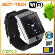 android wifi smart watch , Bluetooth FM radio Camera Internet smart watch skype with andriod