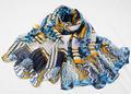 popular estilo multicolor impreso diseño mantón del pashmina