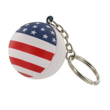 Supply funny stress relief toy Patriotic round shape Star Stress Ball KeyChain stress toys