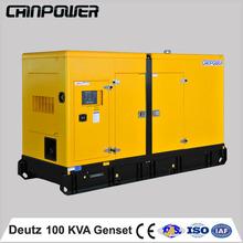electrical generator soundproof type 100KVA deutz diesel generator 80kw power generator TCA engine AC alternator 50/60hz
