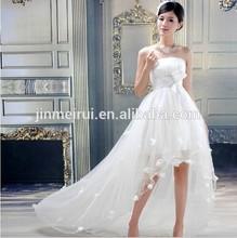 2014 new arrival train bride princess wedding dress white color