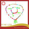 de color de moda cuentas línea elástica conjuntos de joyas