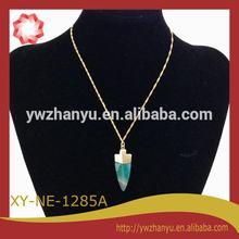 agate arrowhead necklace choker natural stone jewellery