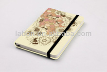 Customize Bee Flower Decoration Cover A5 Leather Notebook Wholesale