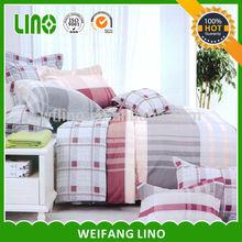 100%cotton 40s 128*68/stripe color/queen size/bedding set
