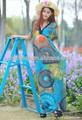 Super z50245a m-6xl código de grasa mmimpresión largo las mujeres vestidos de playa