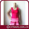 2014 hot selling sleeveless A line bandage dress short sexy hot pink dresses