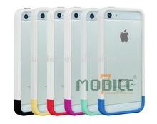 Soft hard dual layers bumper for iphone 5/5S/5G tpu+PC hybrid bumper new tech case