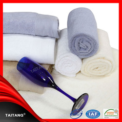 100% cotton pure white high quality factory price organic cotton bath towel