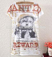Ladies clothes western new cat design fashion women digital print summer short sleeve t shirt