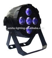 NEW MINI PAR SLIM PAR RGBWA UV 6IN1 5X12W PAR CAN WASH LIGHT PAR56 12W WEDDING LIGHT ALUMINUM HOUSE LED LIGHT