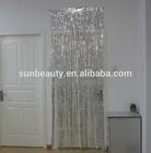 Hanging Party Decorations 3ft x 8ft Silver Metallic Plastic Door Curtain