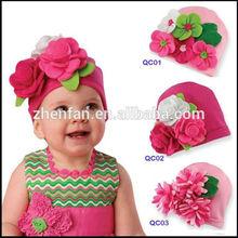 pretty flower cotton children hat/kids hat/baby hat
