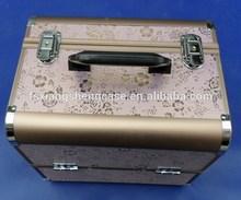 aluminum makeup case with trays/promotion aluminum beauty box.