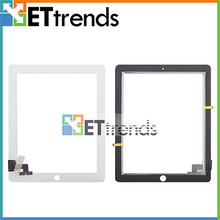 for ipad 2 screen with home button frame 3M adhesive assembly