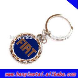 Promotional fiat car logo keychain