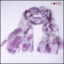 Fashion digital scarf recycled custom printing scarf cotton in silk scarves