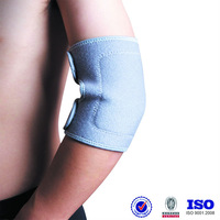 self heating warm grey Adjustable Nylon tourmalin sports supports relief plain magnetic elbow brace