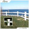 Fentech White Outdoor Vinyl Diamond Rail Decorative Garden Fence, Safety Fencing