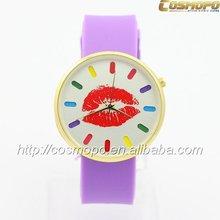 2014 original design silicone quartz watch automatic