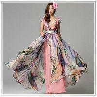 graceful ink wash design custom printed silk fabirc